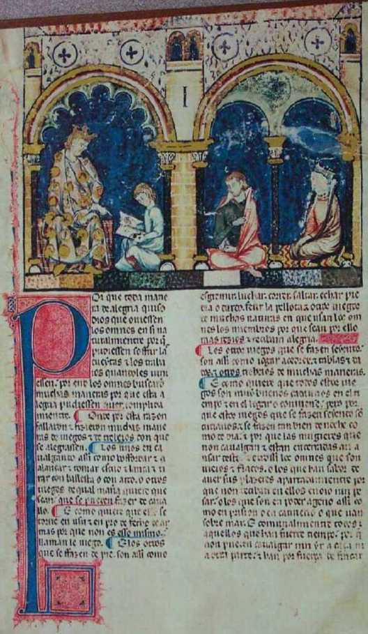 Alphonso Dictating the Book (f. 1r )