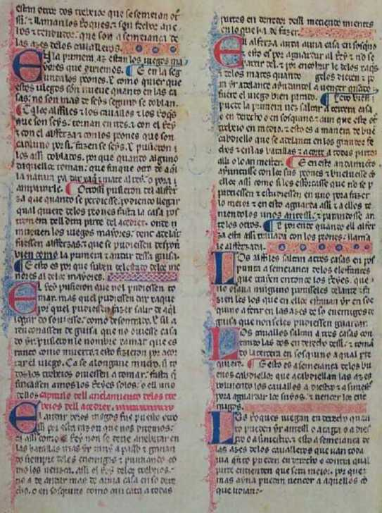 The moves of the pieces (f. 3v